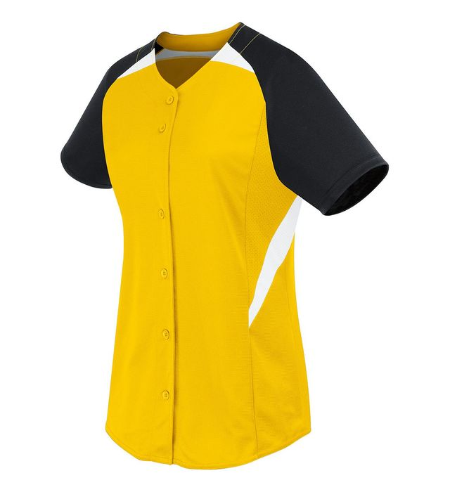 Image for Ladies Galaxy Full Button Softball Jersey from ASG