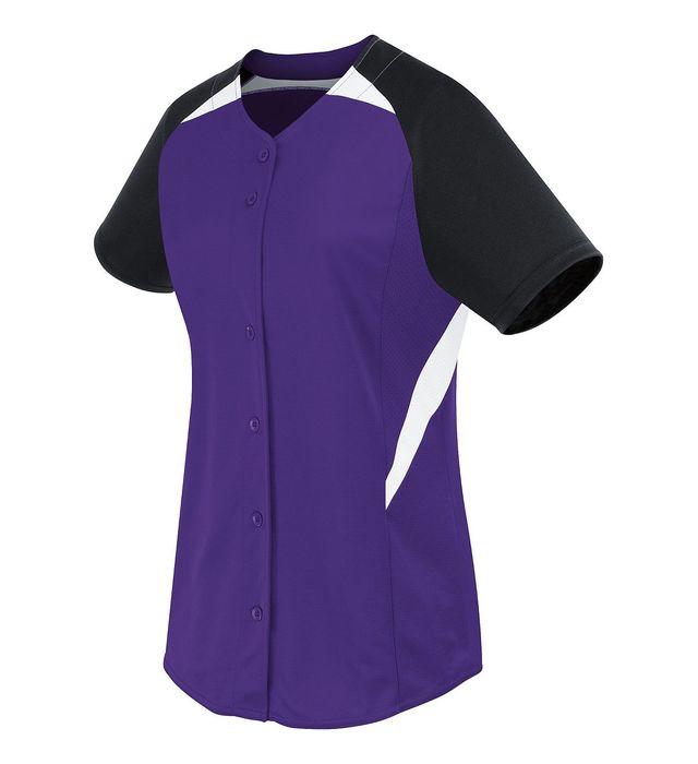 Ladies Galaxy Full Button Jersey