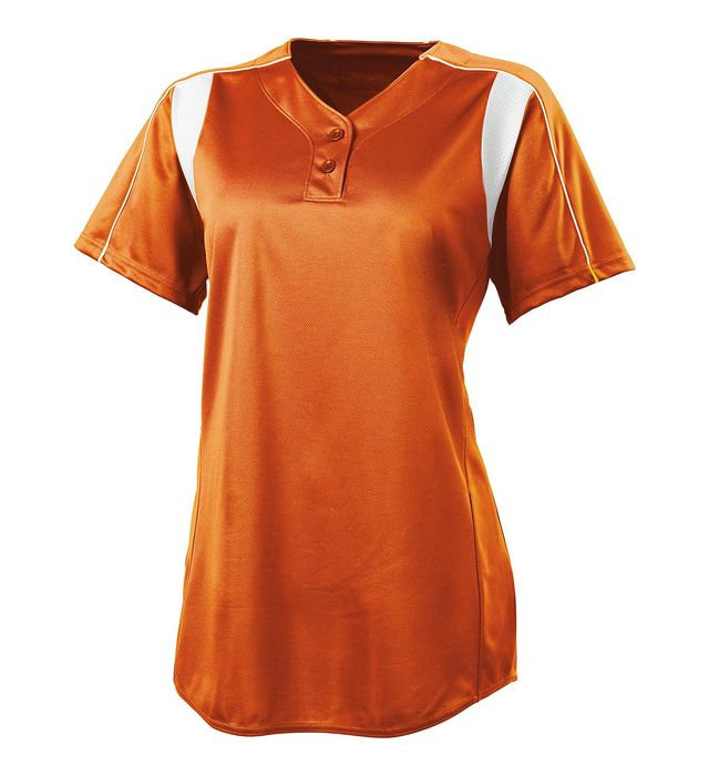 Image for Girls Double Play Two-Button Softball Jersey from ASG