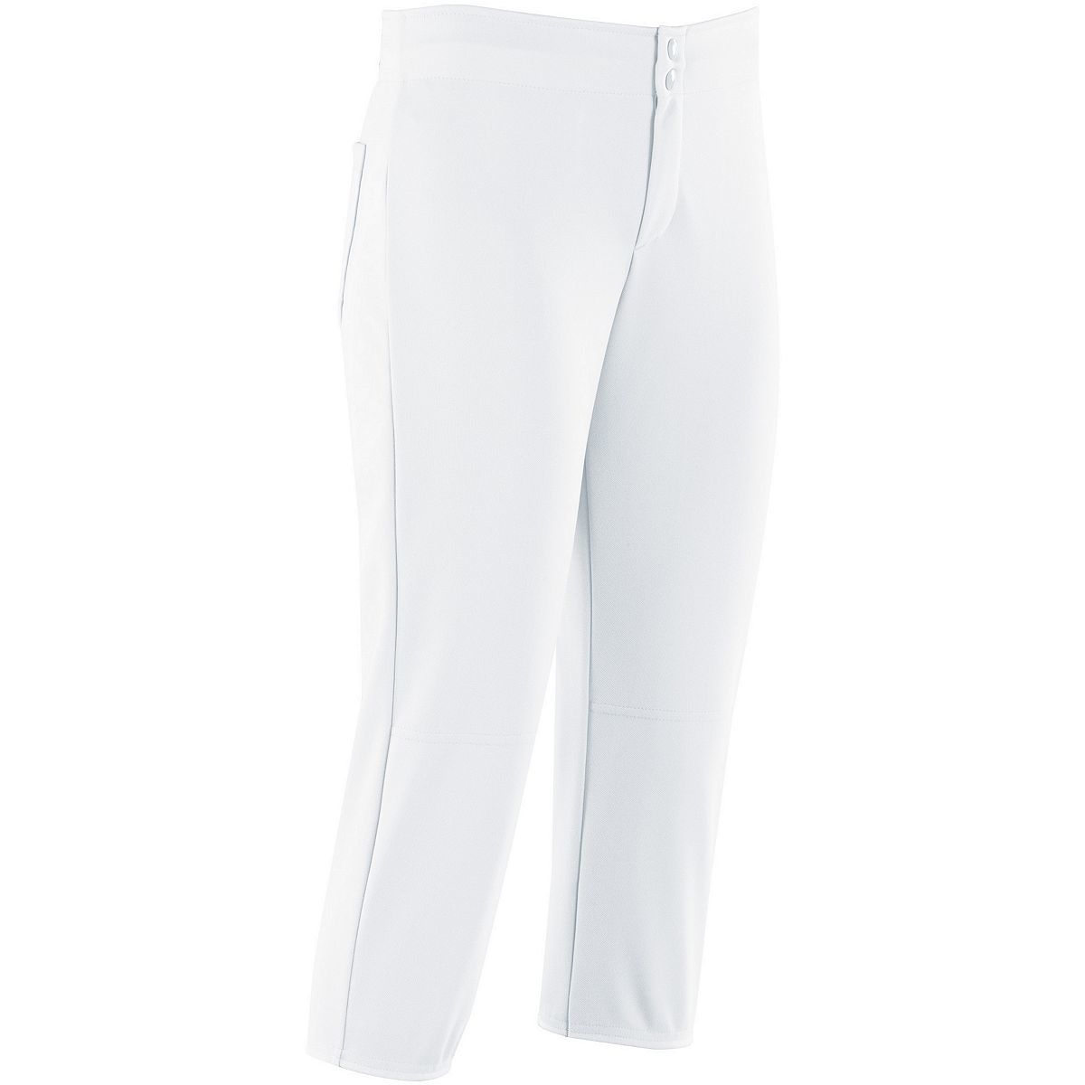 Ladies Unbelted Softball Pant - WHITE