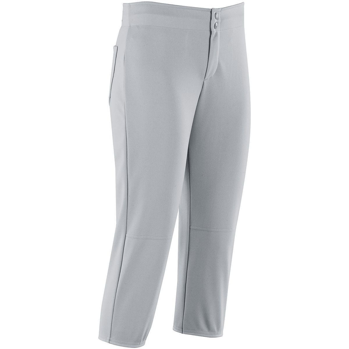 Ladies Unbelted Softball Pant - SILVER GREY