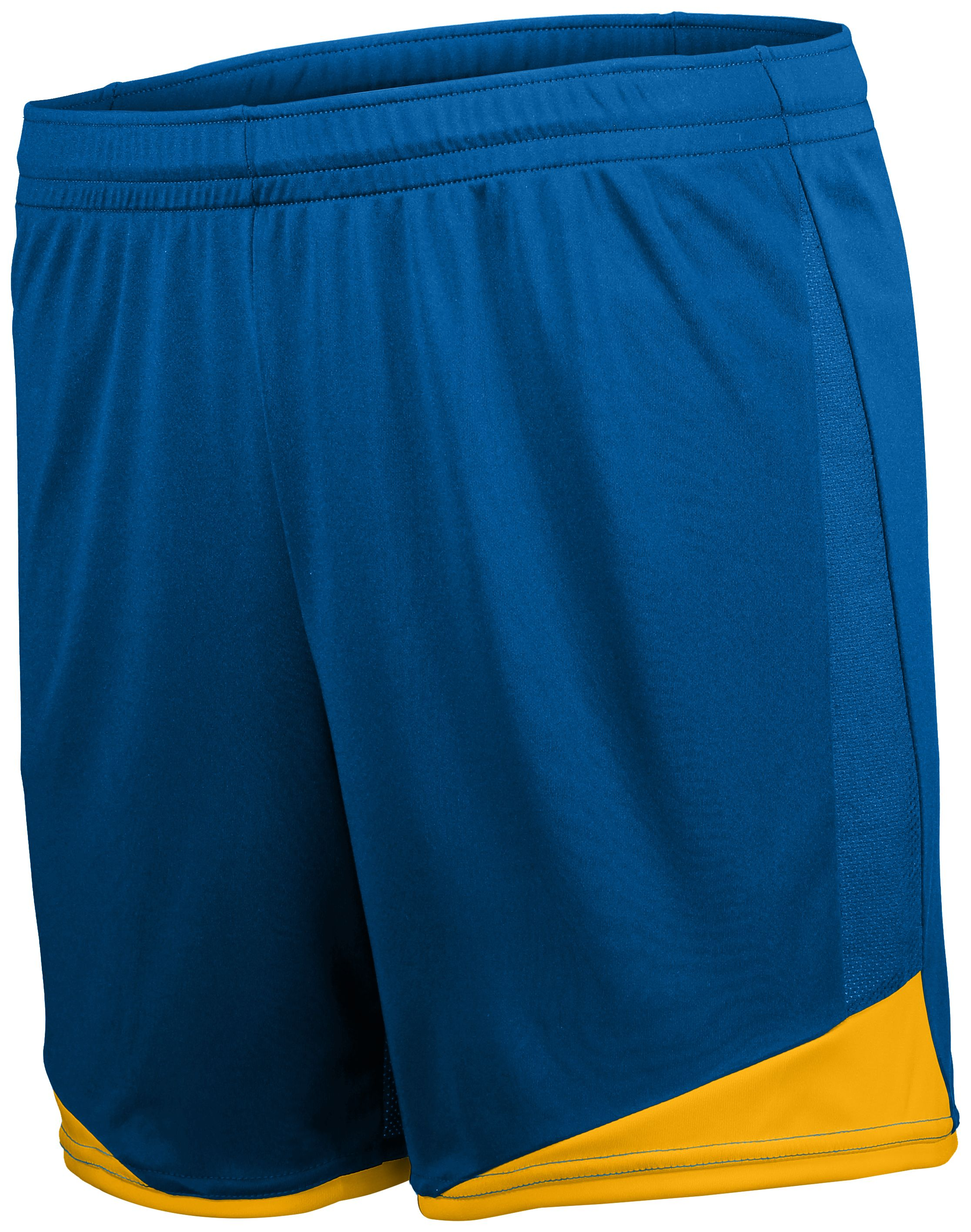 Ladies Stamford Soccer Shorts - ROYAL/ATHLETIC GOLD