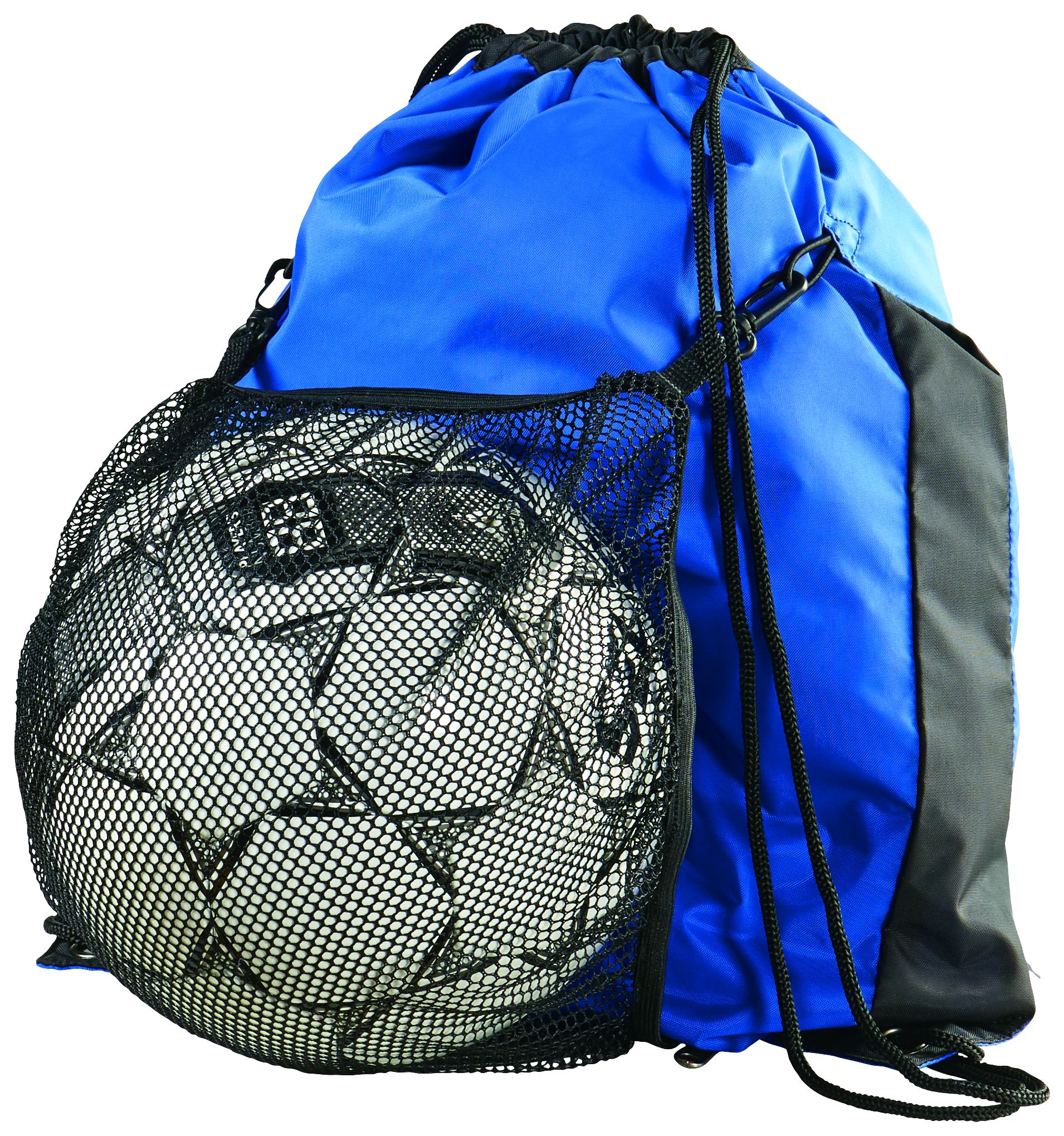 Convertible Drawstring Backpack - ROYAL/BLACK