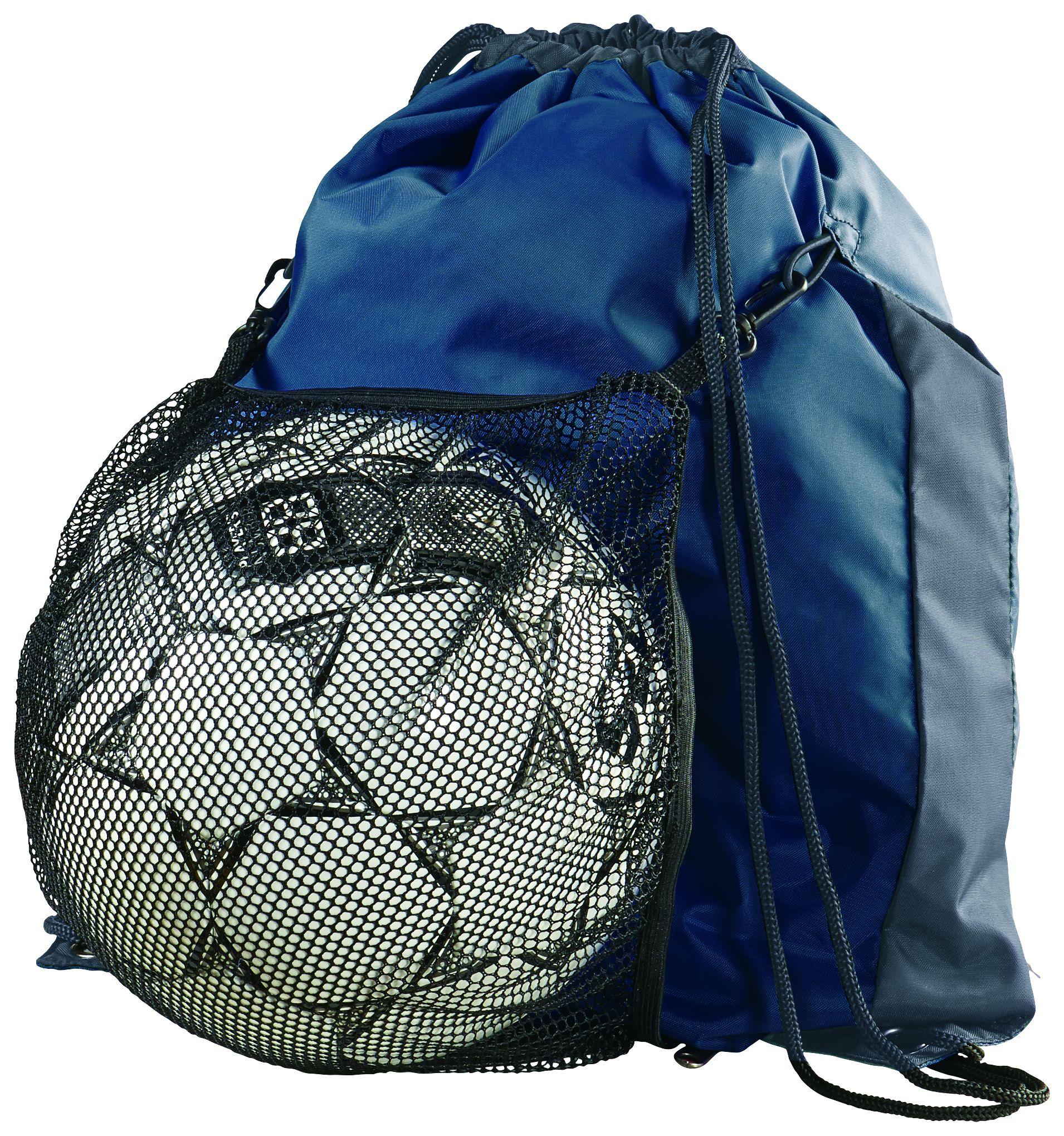 Convertible Drawstring Backpack - NAVY/GRAPHITE