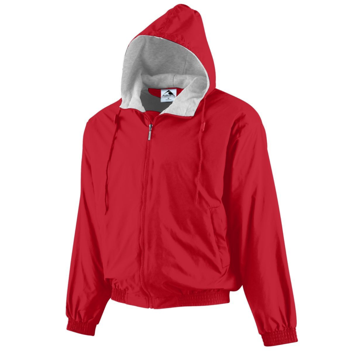 Hooded Taffeta Jacket/Fleece Lined - RED