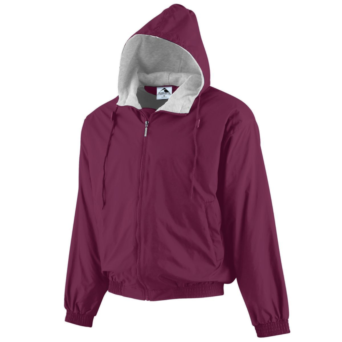 Hooded Taffeta Jacket/Fleece Lined - MAROON