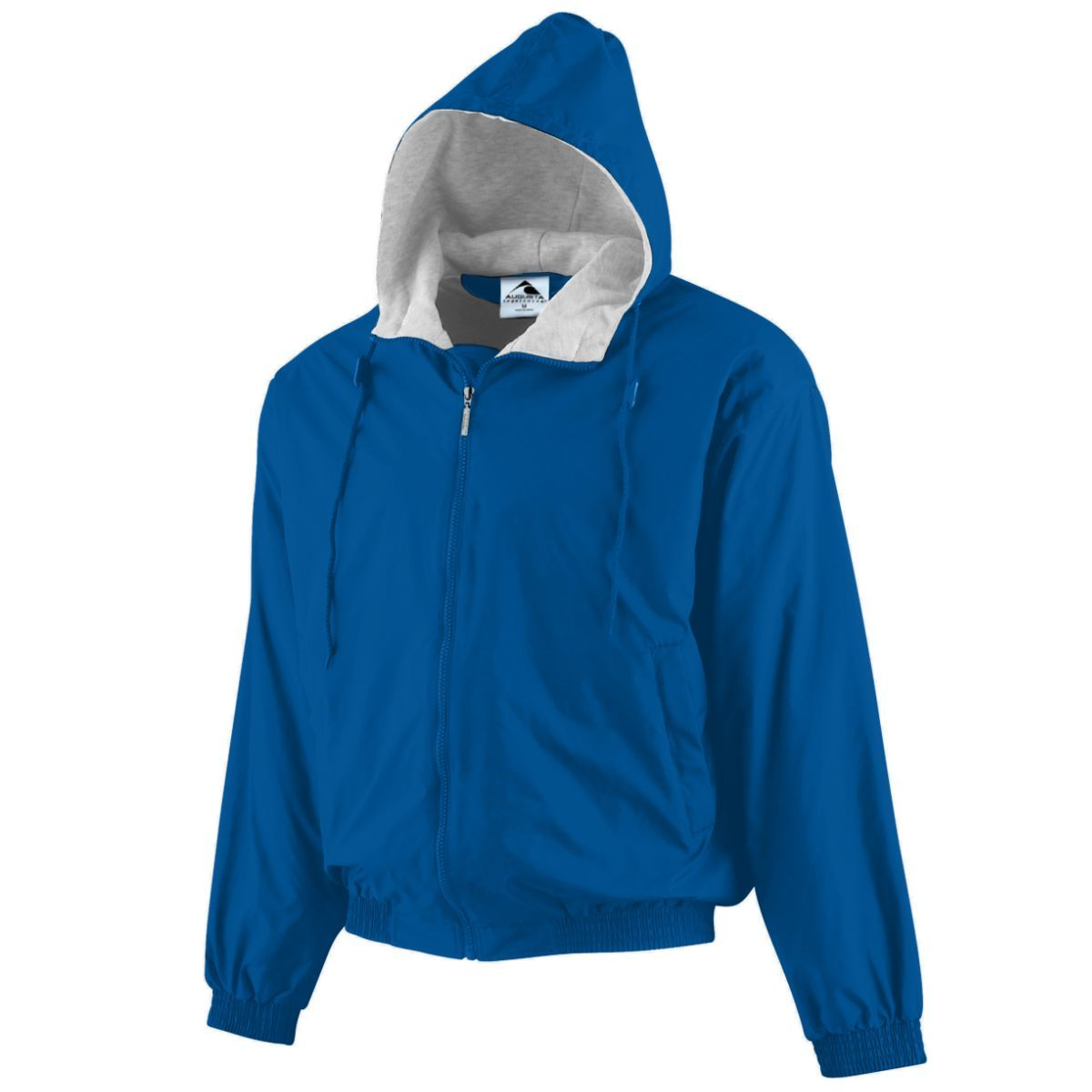 Hooded Taffeta Jacket/Fleece Lined - ROYAL