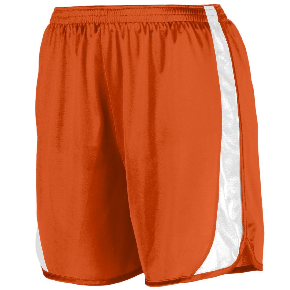 Youth Wicking Track Shorts With Side Insert - ORANGE/WHITE