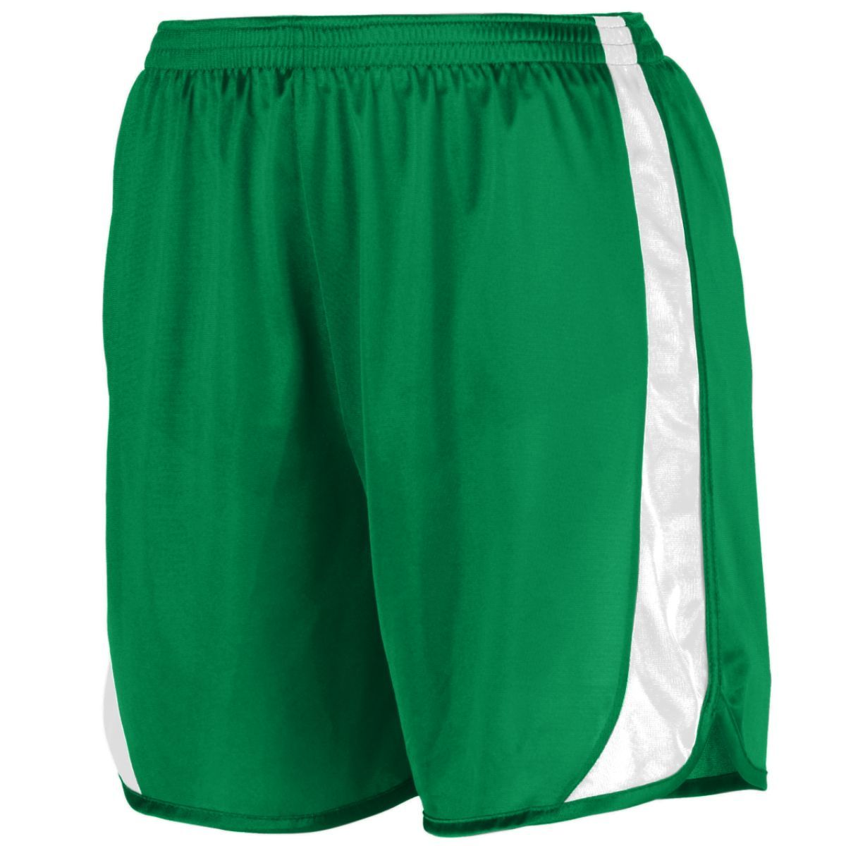 Youth Wicking Track Shorts With Side Insert - KELLY/WHITE