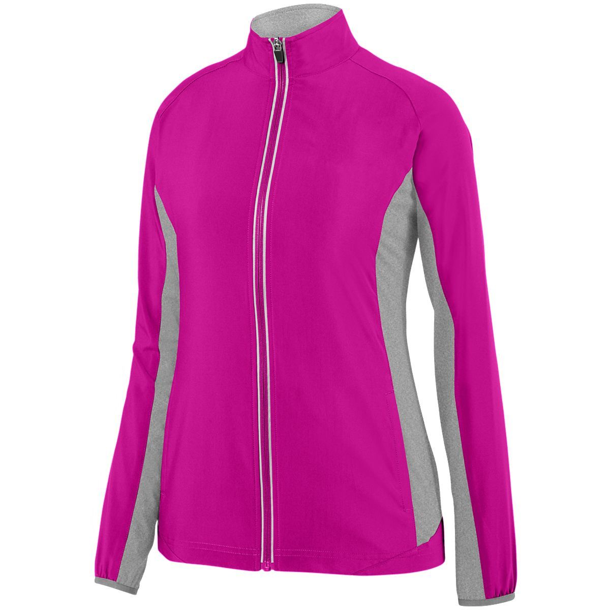 Ladies Preeminent Jacket - POWER PINK/GRAPHITE HEATHER