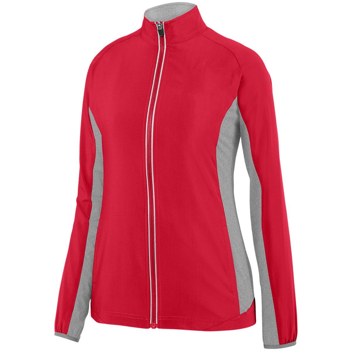 Ladies Preeminent Jacket - RED/GRAPHITE HEATHER