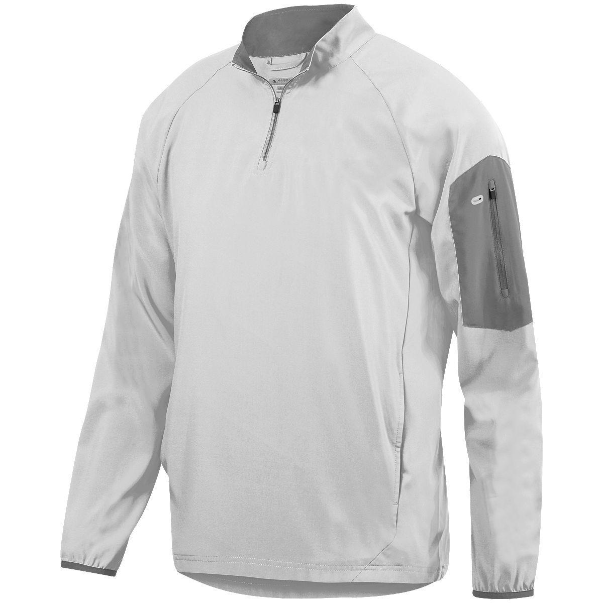 Preeminent Half-Zip Pullover - WHITE/GRAPHITE