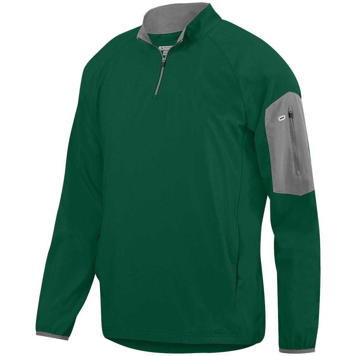 Preeminent Half-Zip Pullover - DARK GREEN/GRAPHITE