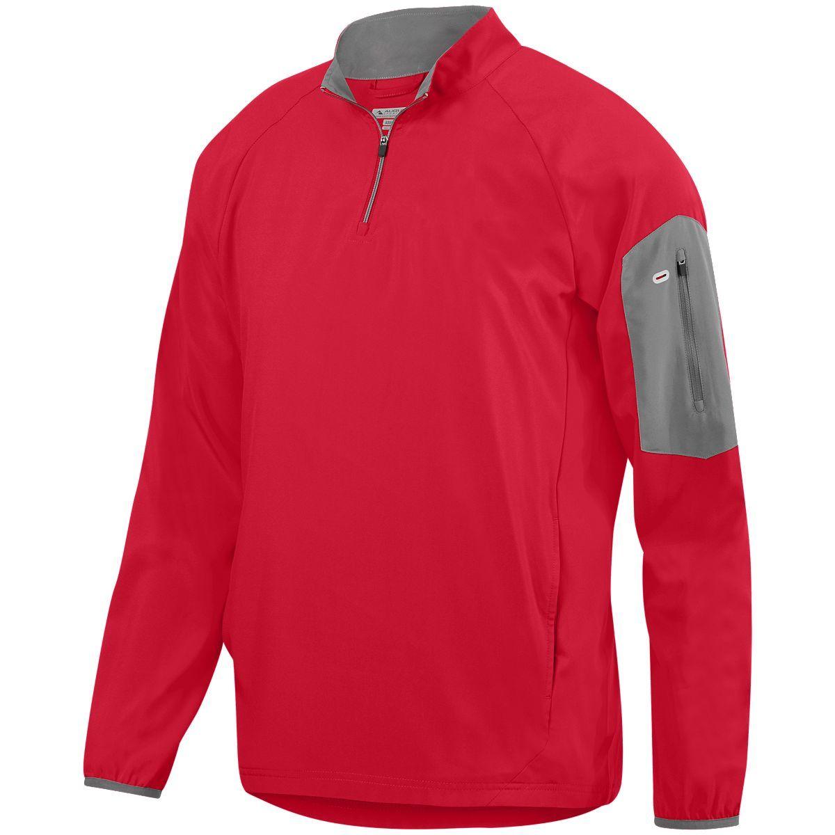 Preeminent Half-Zip Pullover - RED/GRAPHITE