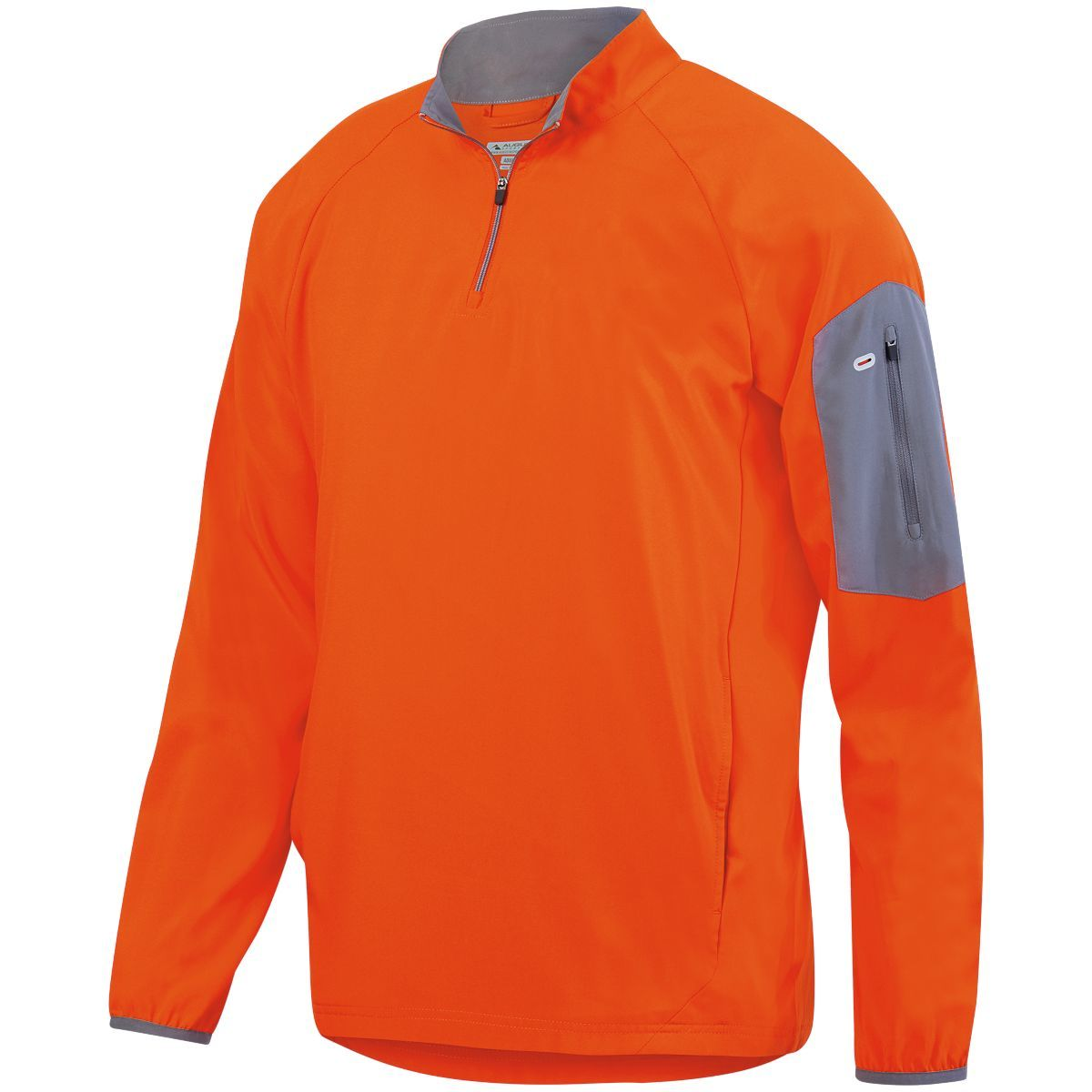 Preeminent Half-Zip Pullover - ORANGE/GRAPHITE