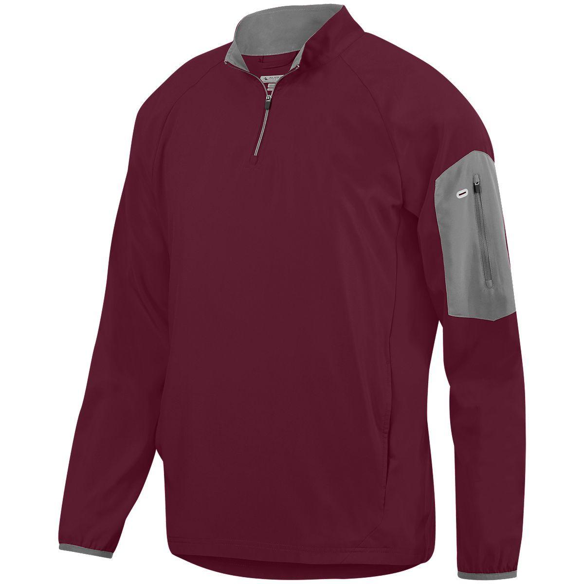 Preeminent Half-Zip Pullover - MAROON/GRAPHITE