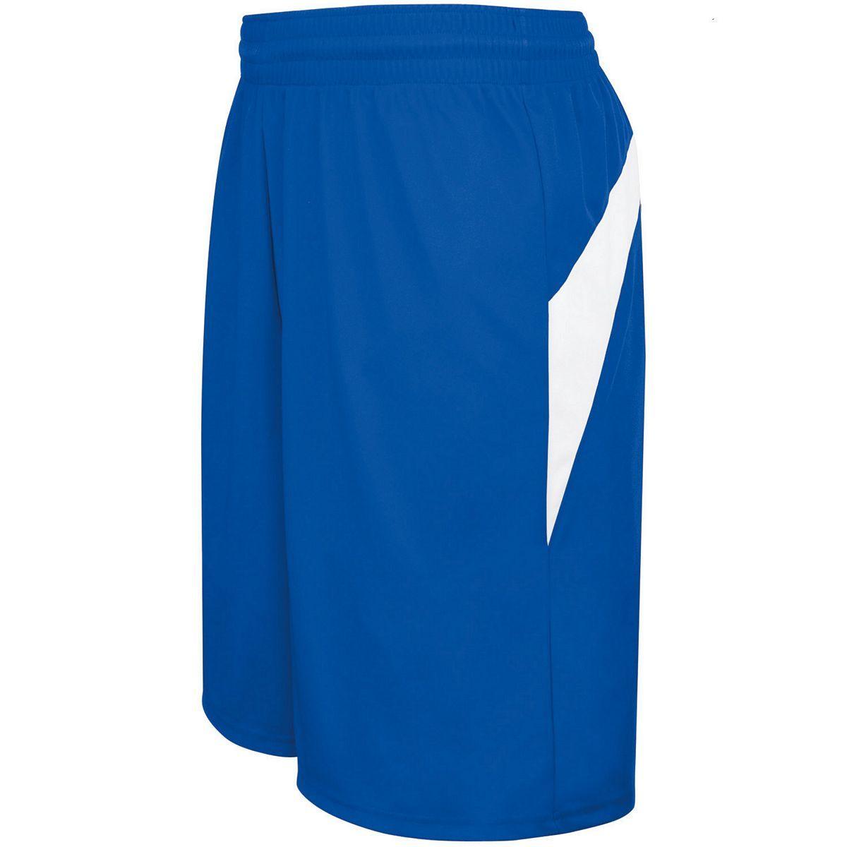 Adult Transition Game Shorts - ROYAL/WHITE