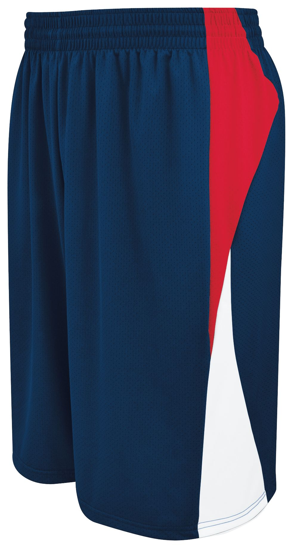 Youth Campus Reversible Shorts - NAVY/SCARLET/WHITE