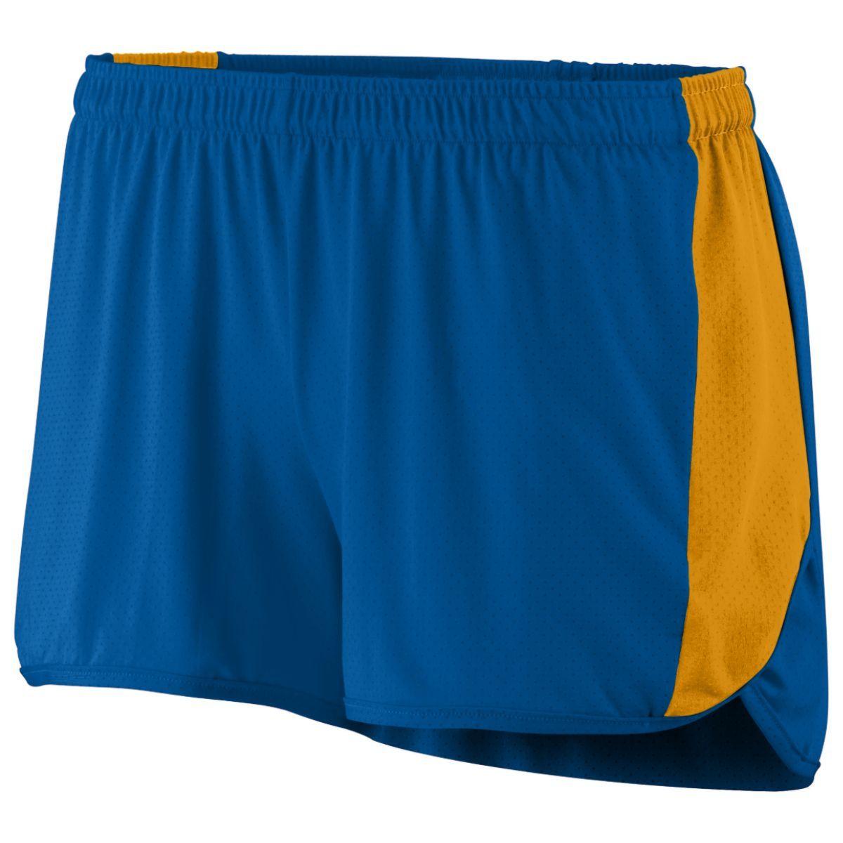 Ladies Sprint Shorts - ROYAL/GOLD
