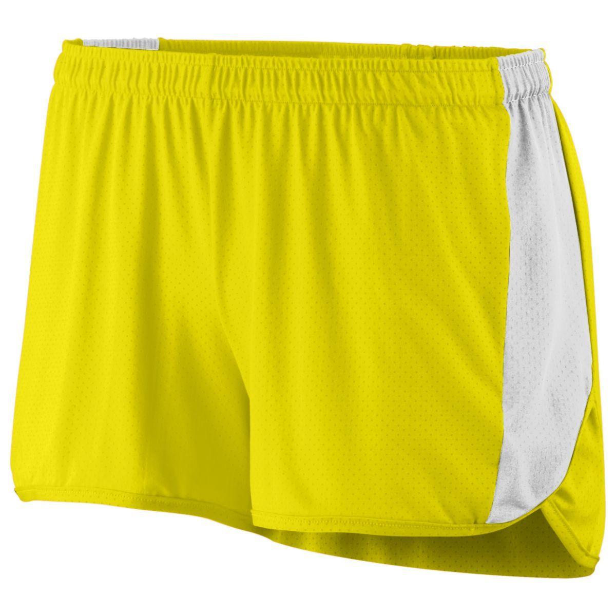 Ladies Sprint Shorts - POWER YELLOW/WHITE