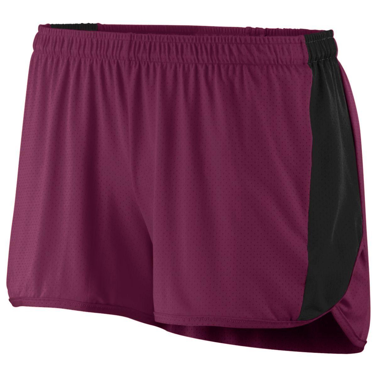 Ladies Sprint Shorts - MAROON/BLACK