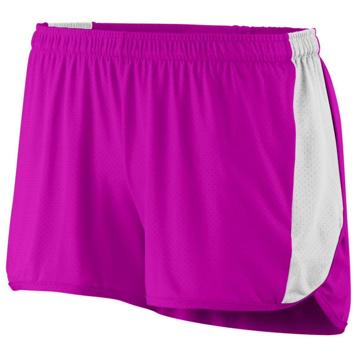 Ladies Sprint Shorts - POWER PINK/WHITE
