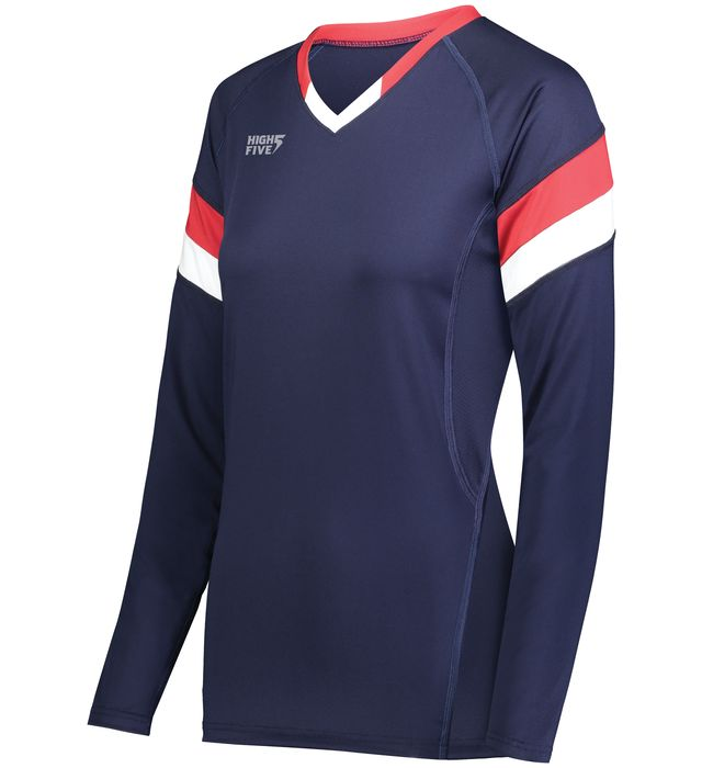 Girls TruHit Tri-Color Long Sleeve Jersey