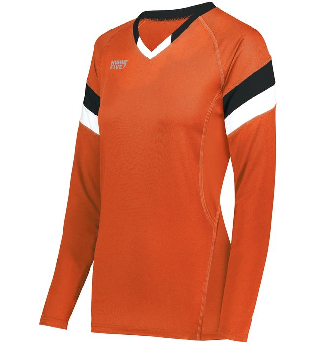 Ladies TruHit Tri-Color Long Sleeve Jersey