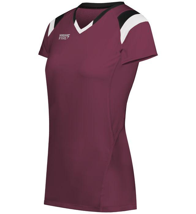 Girls TruHit Tri-Color Short Sleeve Jersey