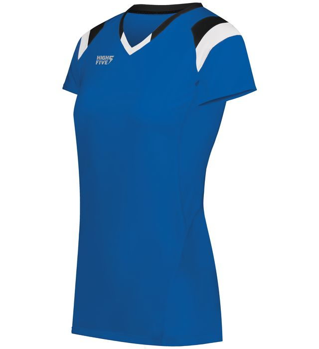 Ladies TruHit Tri-Color Short Sleeve Jersey
