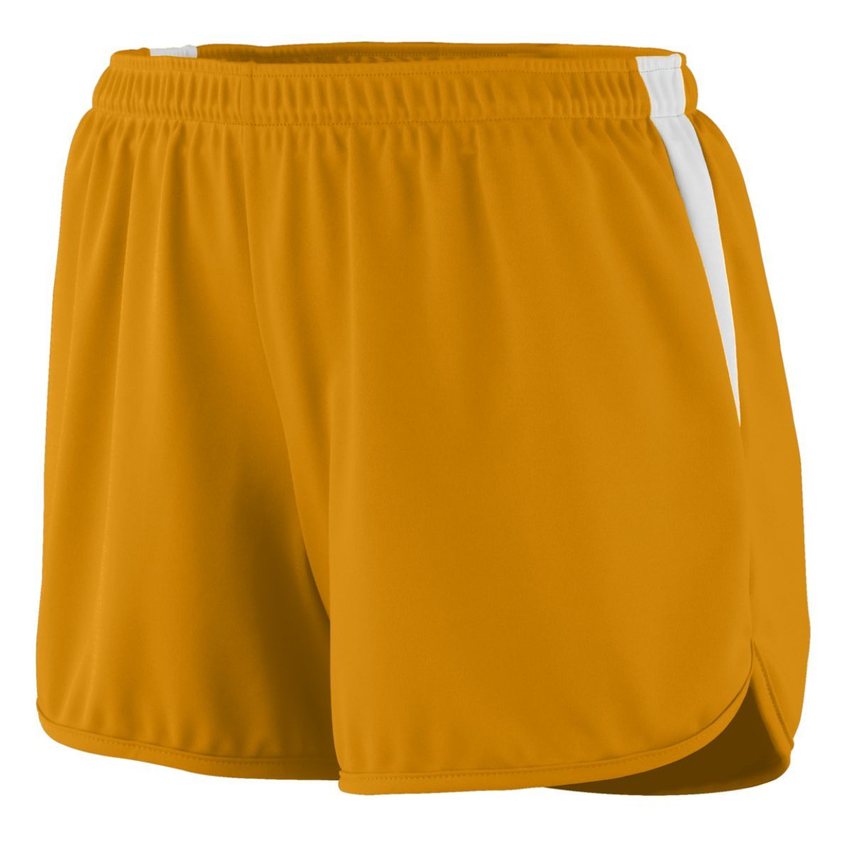Ladies Rapidpace Track Shorts - GOLD/WHITE