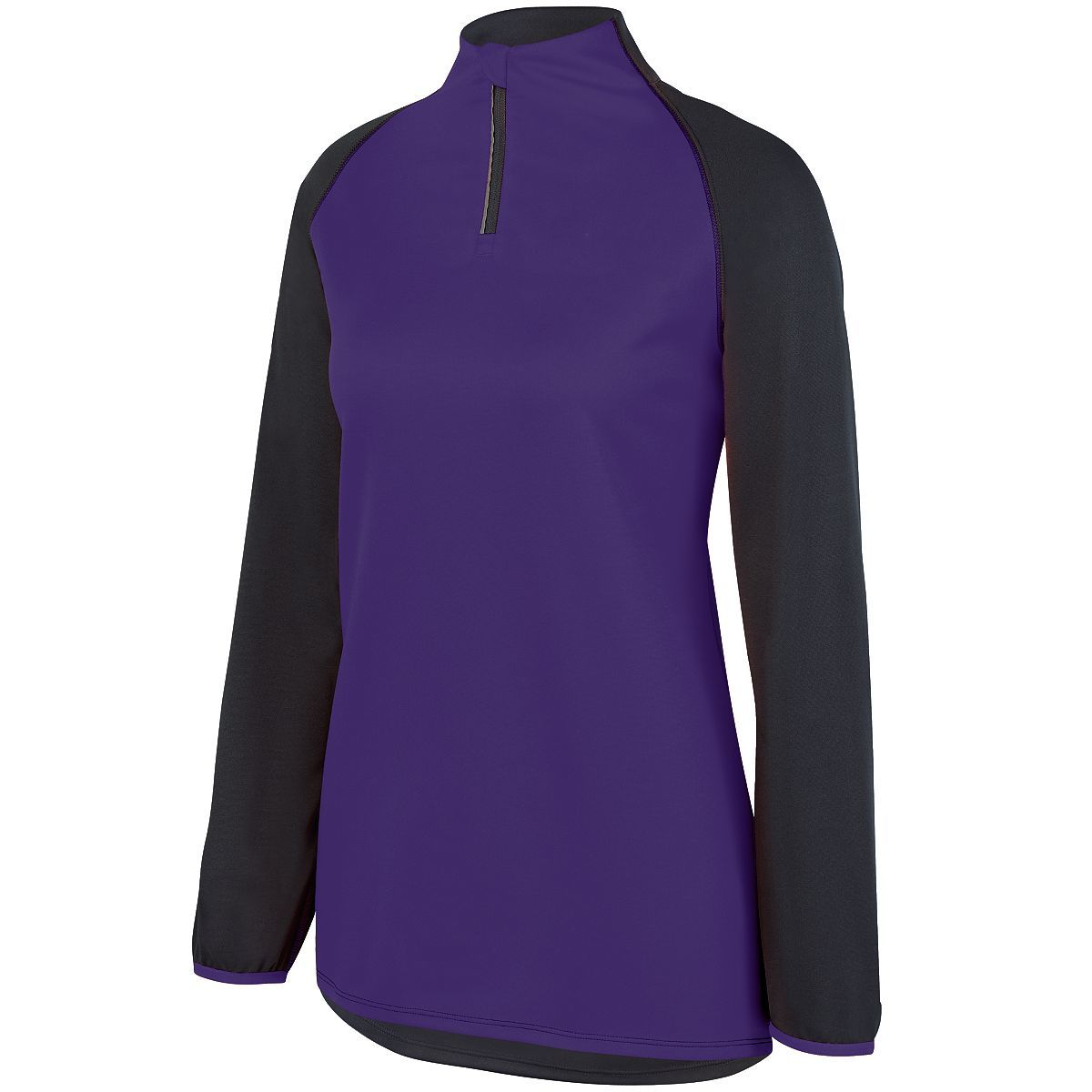 Ladies Record Setter Pullover - SLATE/PURPLE