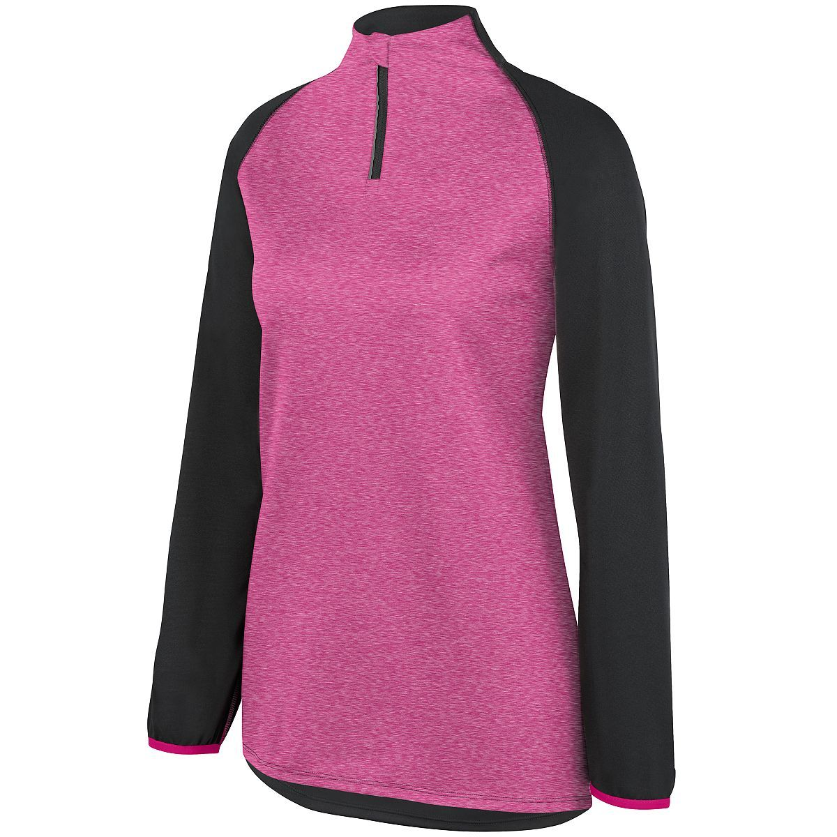 Ladies Record Setter Pullover - SLATE/POWER PINK HEATHER