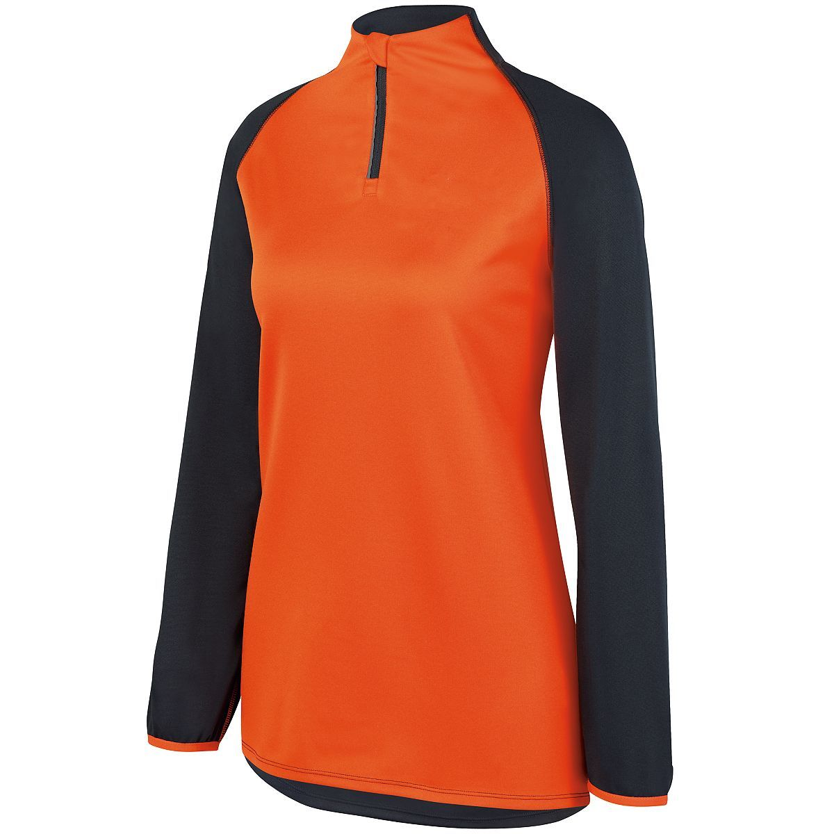 Ladies Record Setter Pullover - SLATE/ORANGE