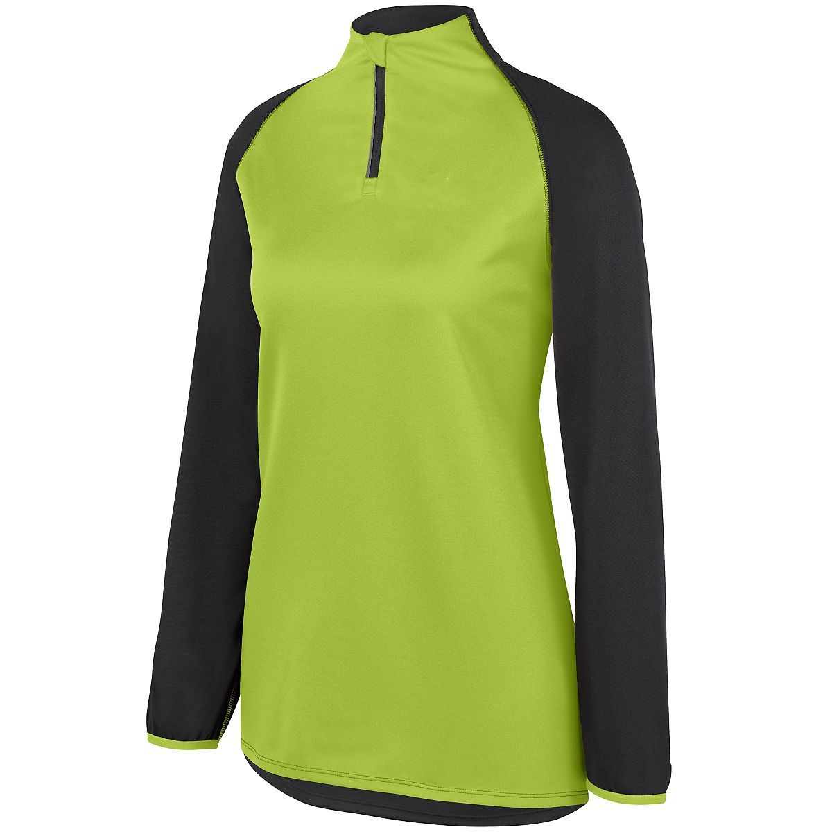 Ladies Record Setter Pullover - SLATE/LIME