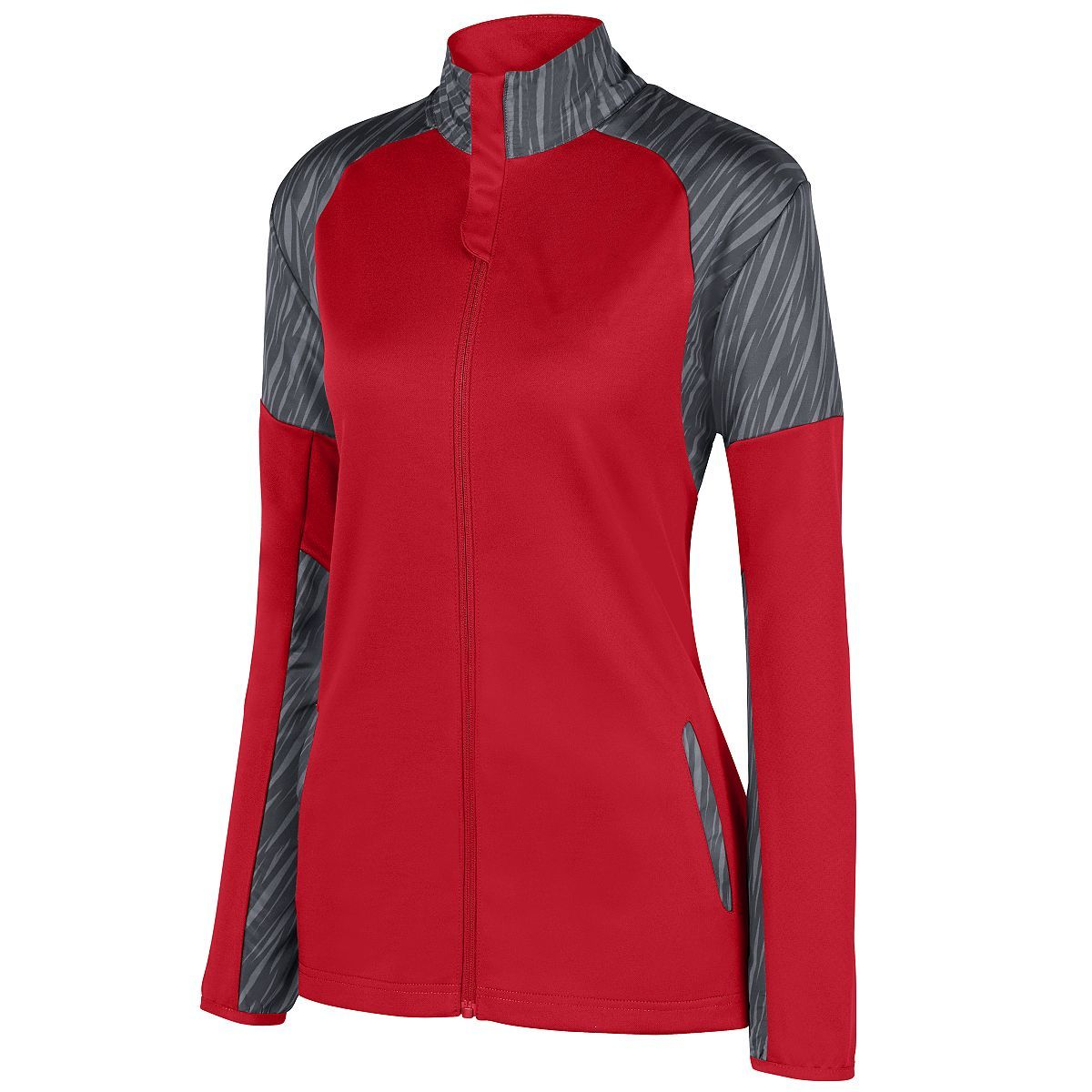 Ladies Breaker Jacket - RED/SLATE