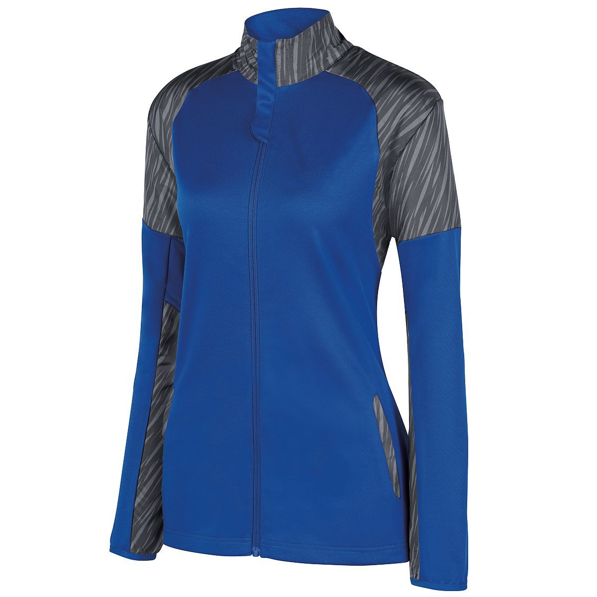 Ladies Breaker Jacket - ROYAL/SLATE