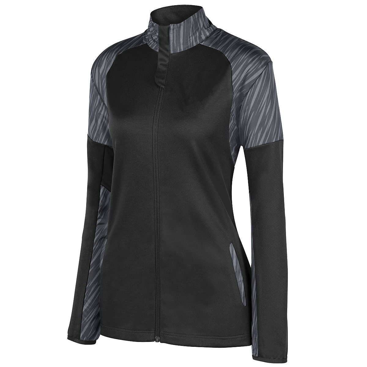 Ladies Breaker Jacket - BLACK/SLATE