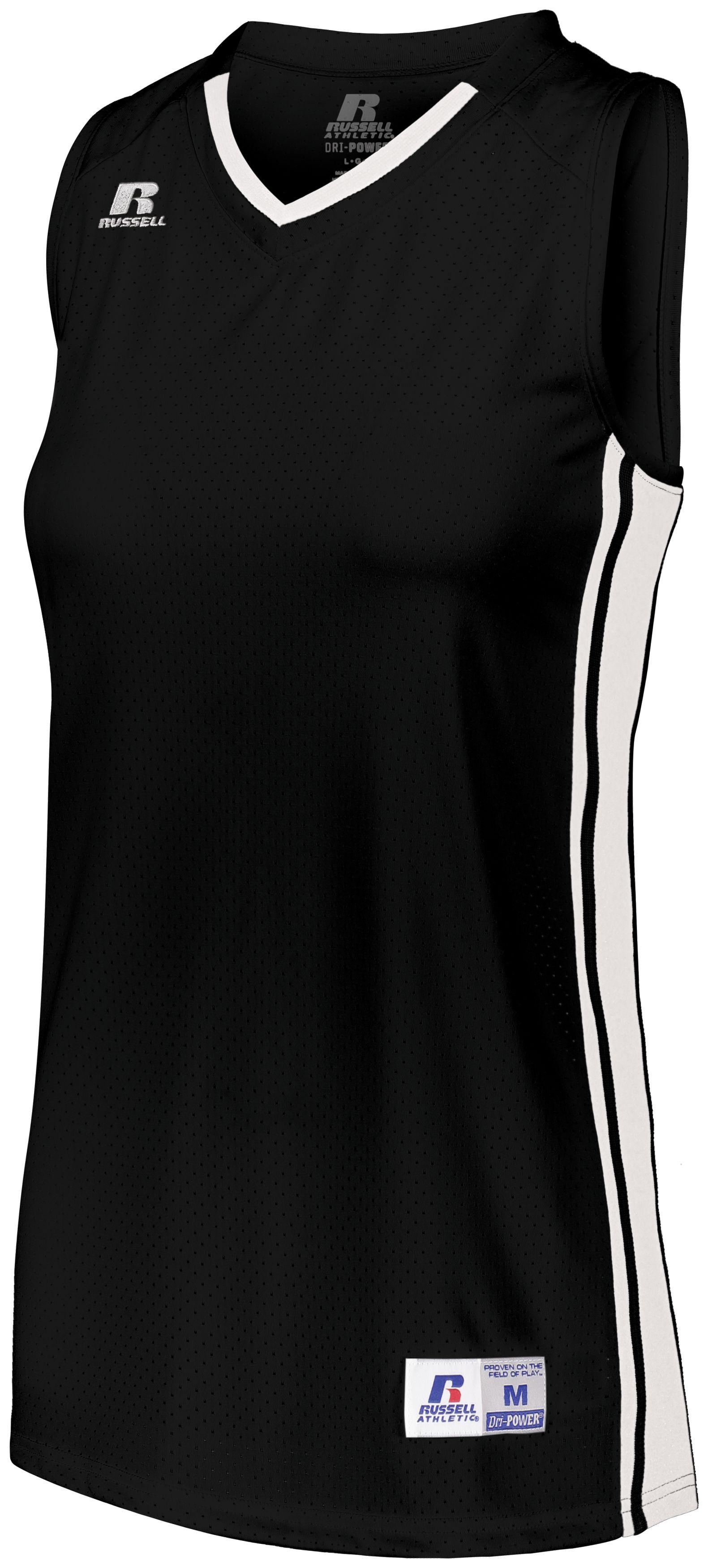Ladies Legacy Basketball Jersey - Black/white