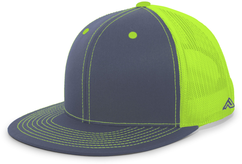 D-Series Trucker Snapback Cap - GRAPHITE/NEON GREEN/GRAPHITE
