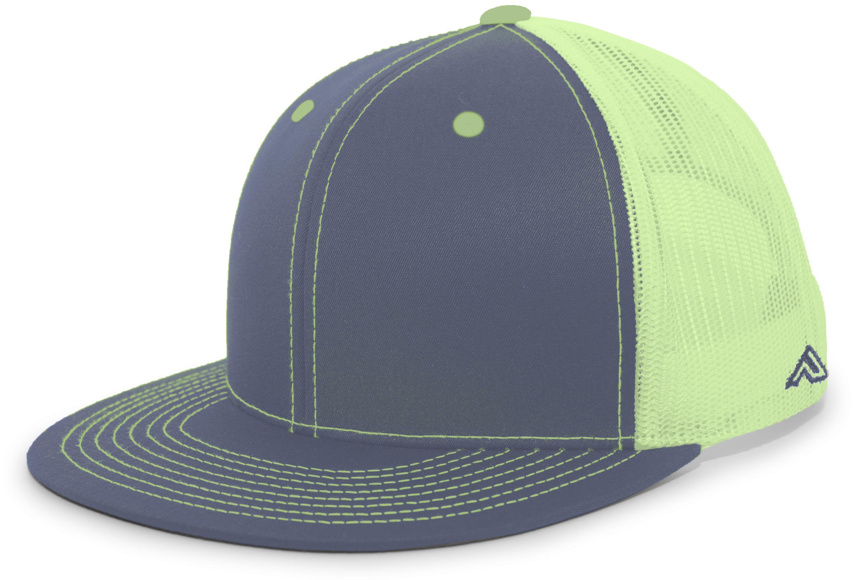 D-Series Trucker Snapback Cap - GRAPHITE/NEON YELLOW/GRAPHITE