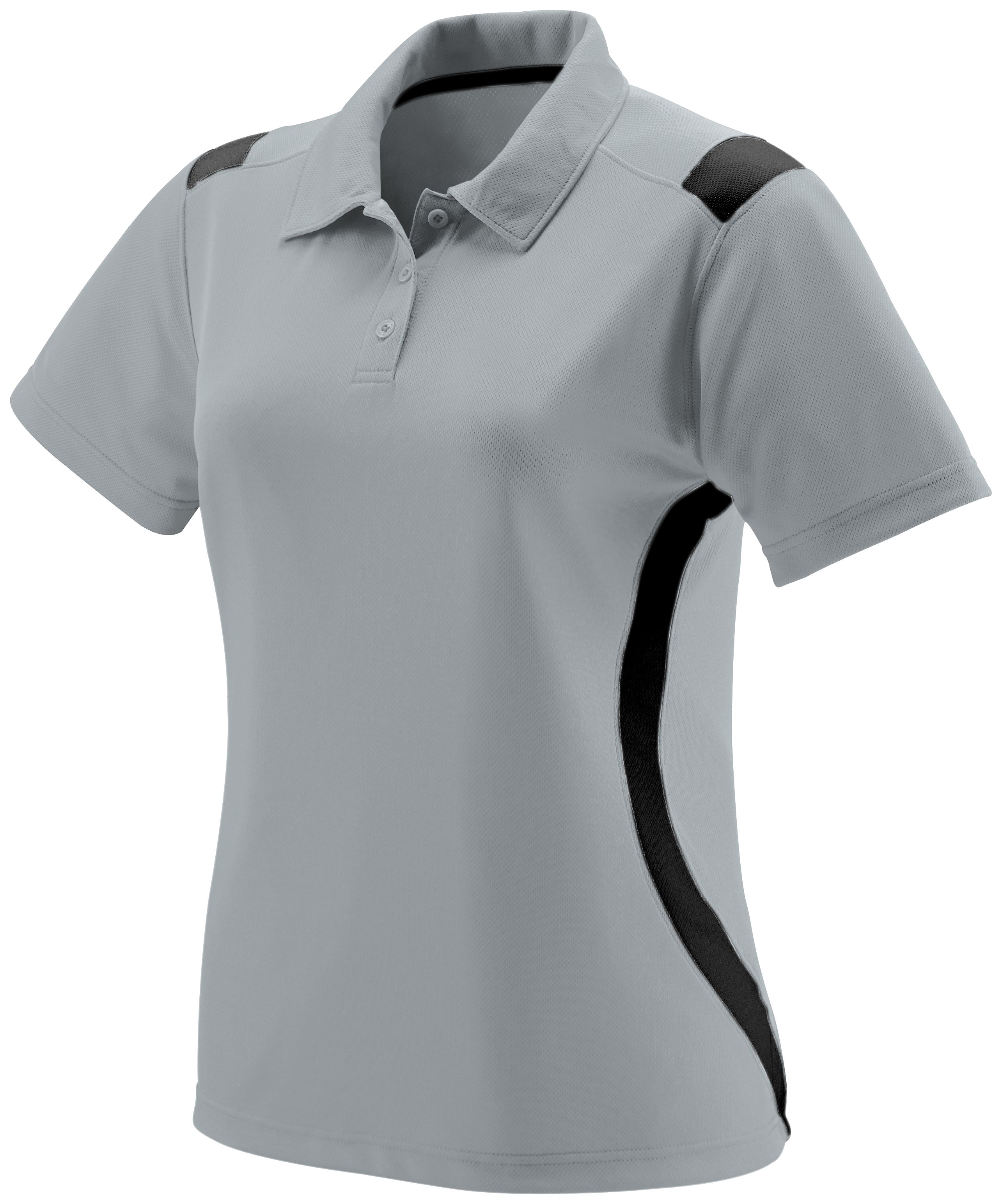 Ladies All-Conference Polo - Silver/black