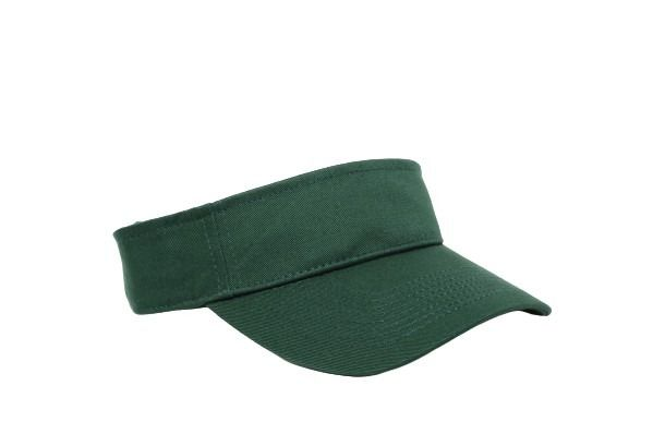 Cotton Woven Hook-And-Loop Adjustable Visor - HUNTER