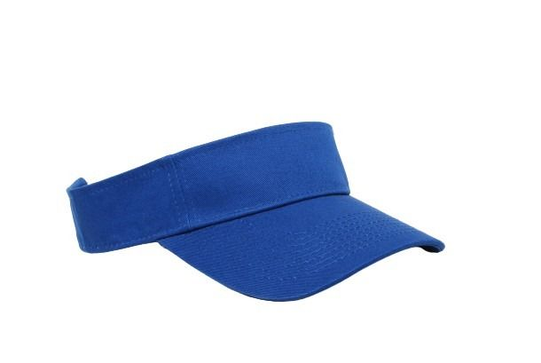 Cotton Woven Hook-And-Loop Adjustable Visor - ROYAL