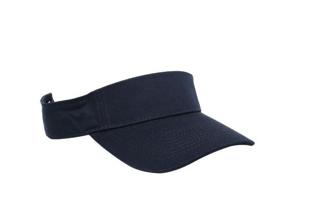 Cotton Woven Hook-And-Loop Adjustable Visor - NAVY