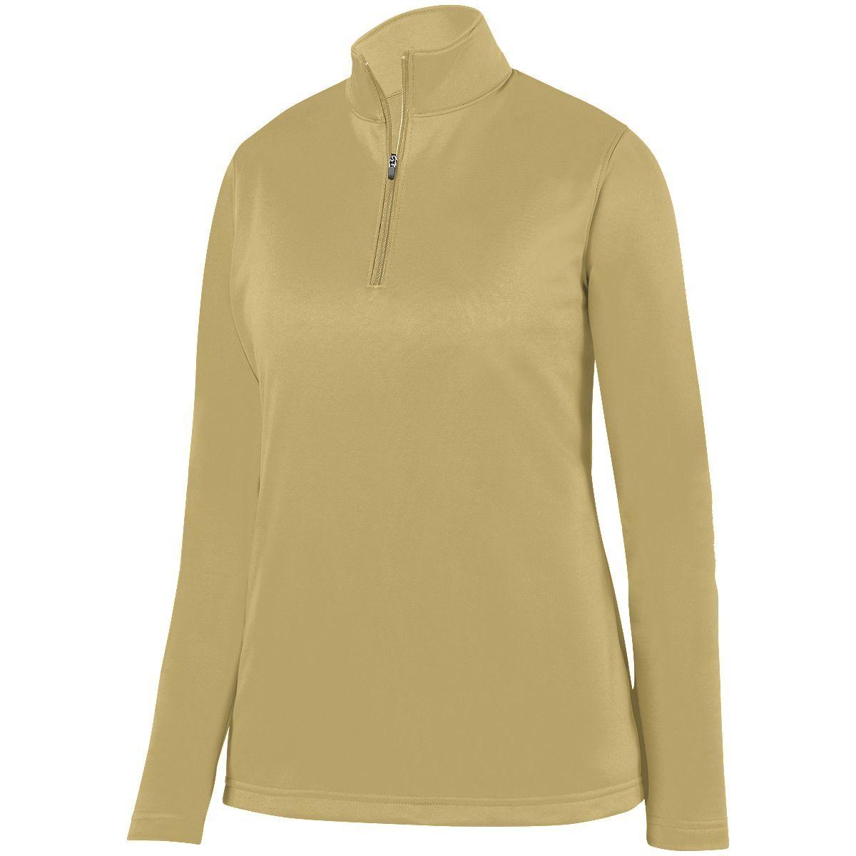 Ladies Wicking Fleece Pullover - VEGAS GOLD