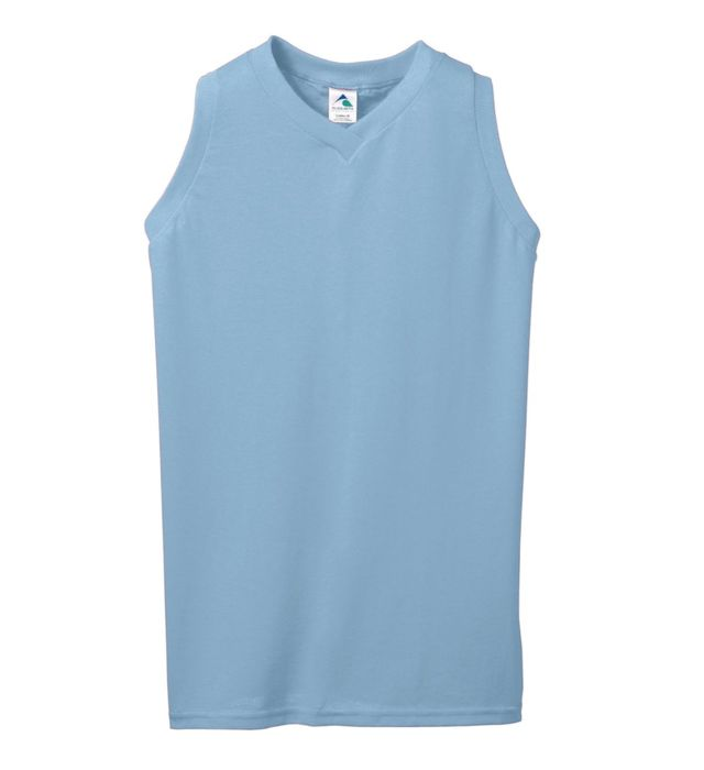 Ladies Sleeveless V-Neck Poly/Cotton Jersey