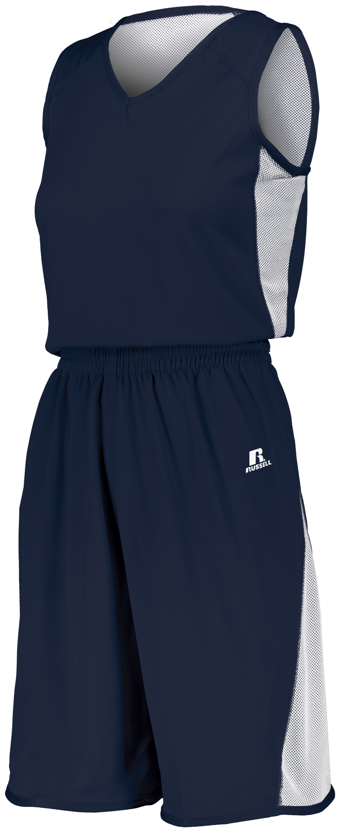 Ladies Undivided Single Ply Reversible Shorts - NAVY/WHITE