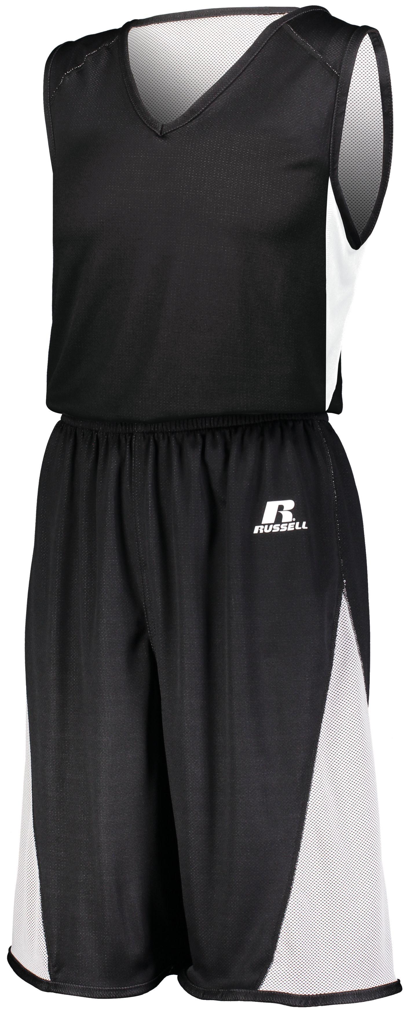 Undivided Single Ply Reversible Jersey - BLACK/WHITE