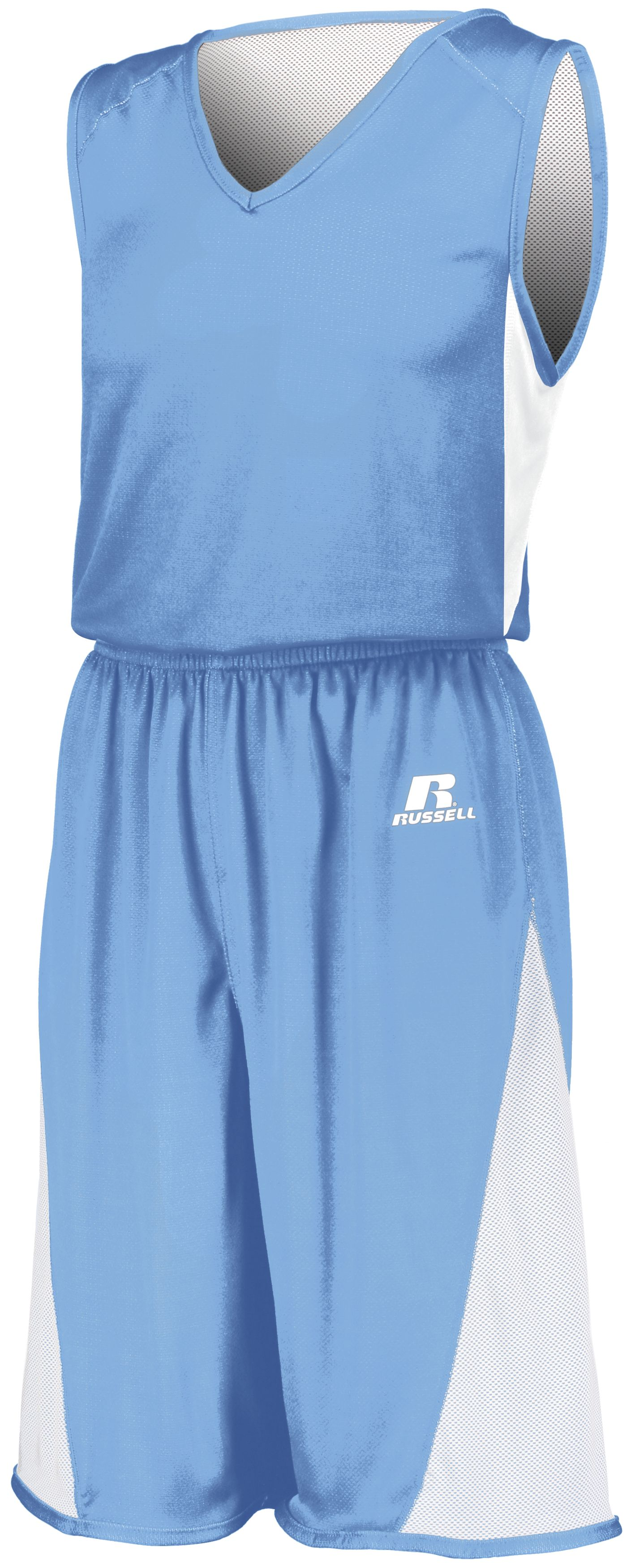 Undivided Single Ply Reversible Jersey - COLUMBIA BLUE/WHITE